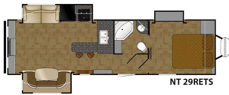 Floorplan - 2017 Heartland North Trail 29RETS King