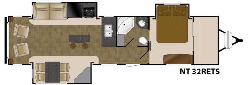 North Trail 32RETS King Floorplan Image