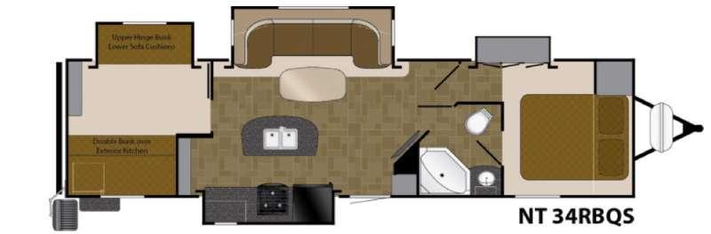 North Trail 34RBQS King Floorplan Image