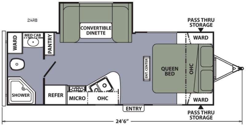 Apex Ultra-Lite 214RB Floorplan Image