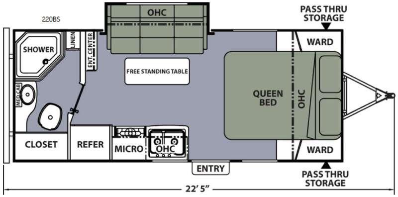 Apex Ultra-Lite 22QBS Floorplan Image
