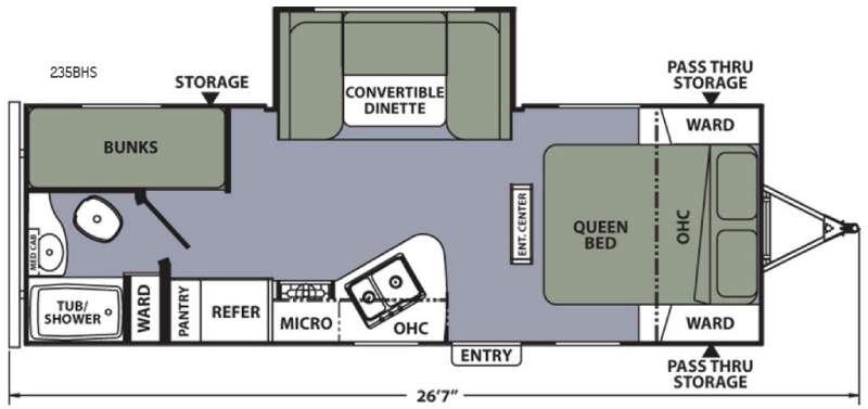Apex Ultra-Lite 235BHS Floorplan Image