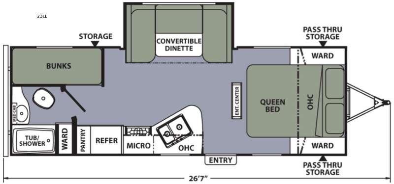 Apex Ultra-Lite 23LE Floorplan Image