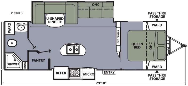 Apex Ultra-Lite 269RBSS Floorplan Image