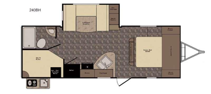 Floorplan - 2017 CrossRoads RV Hill Country HCT240BH