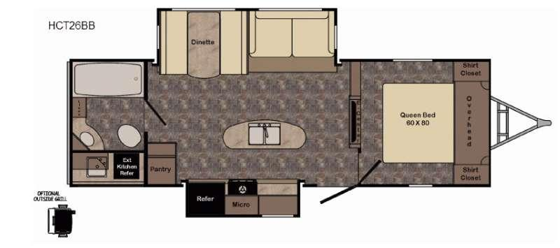 Floorplan - 2017 CrossRoads RV Hill Country HCT26BB
