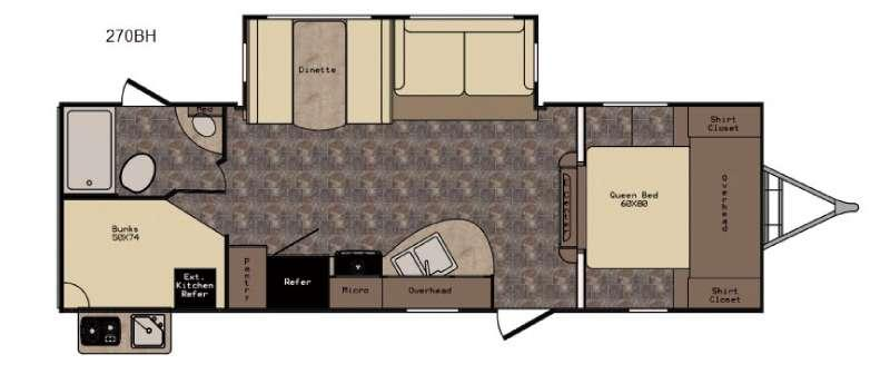 Floorplan - 2017 CrossRoads RV Hill Country HCT270BH
