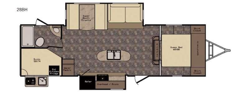 Floorplan - 2017 CrossRoads RV Hill Country HCT28BH