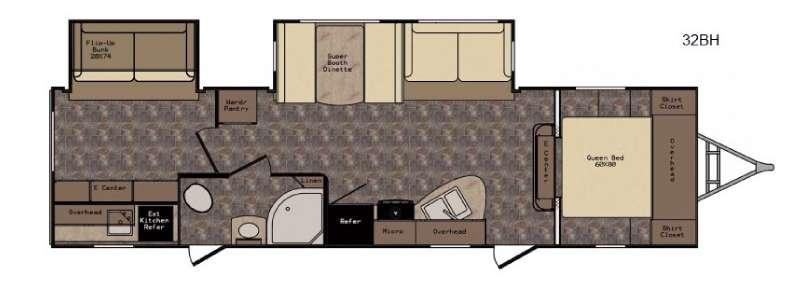 Floorplan - 2017 CrossRoads RV Hill Country HCT32BH