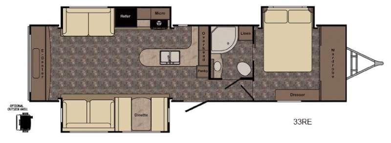 Floorplan - 2017 CrossRoads RV Hill Country HCT33RE