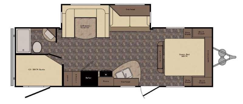 Floorplan - 2017 CrossRoads RV Longhorn LHT26DT Texas Edition