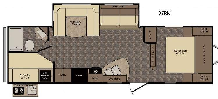 Floorplan - 2017 CrossRoads RV Longhorn LHT27BK Texas Edition