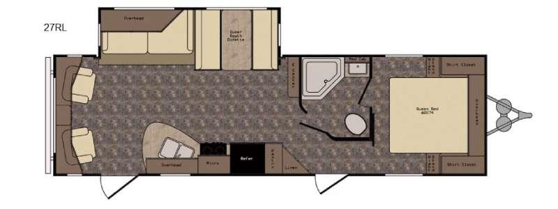 Floorplan - 2017 CrossRoads RV Longhorn LHT27RL Texas Edition