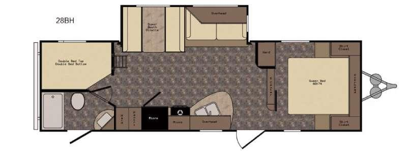 Floorplan - 2017 CrossRoads RV Longhorn LHT28BH Texas Edition