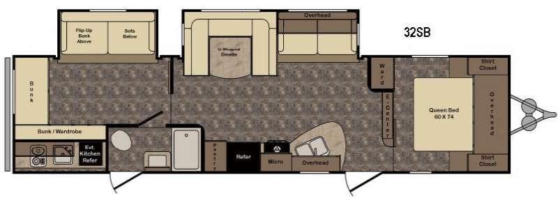 Floorplan - 2017 CrossRoads RV Longhorn LHT32SB Texas Edition