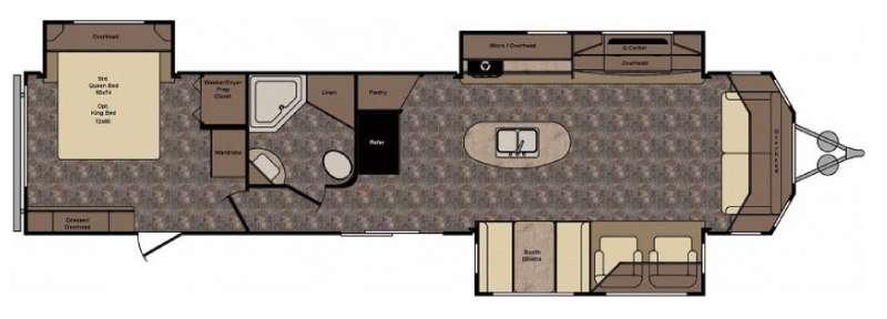 Longhorn LHT38CK Texas Edition Floorplan Image