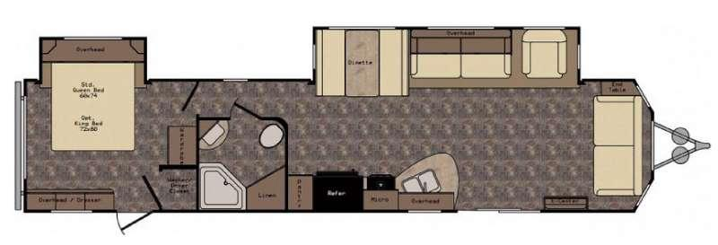 Floorplan - 2017 CrossRoads RV Longhorn LHT38FL Texas Edition