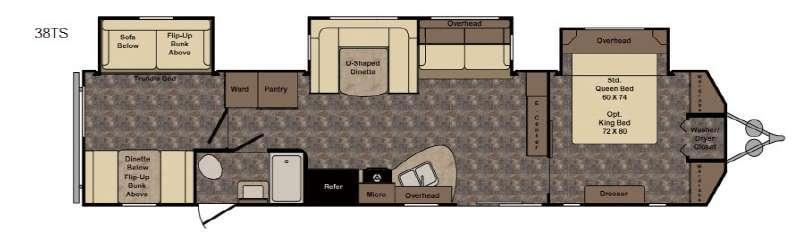 Longhorn LHT38TS Texas Edition Floorplan Image