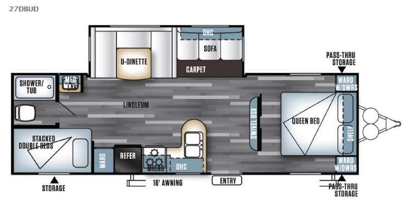 Salem 27DBUD Floorplan Image