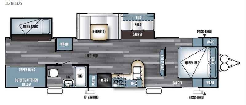 Salem 32BHDS Floorplan Image