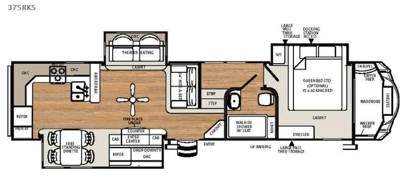 Sierra 375RKS Floorplan Image