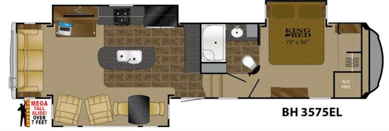 Floorplan - 2017 Heartland Bighorn 3575EL