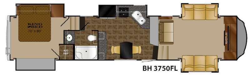 Floorplan - 2017 Heartland Bighorn 3750FL