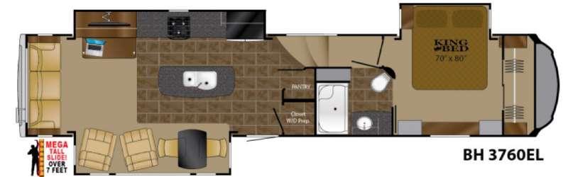 Floorplan - 2017 Heartland Bighorn 3760EL