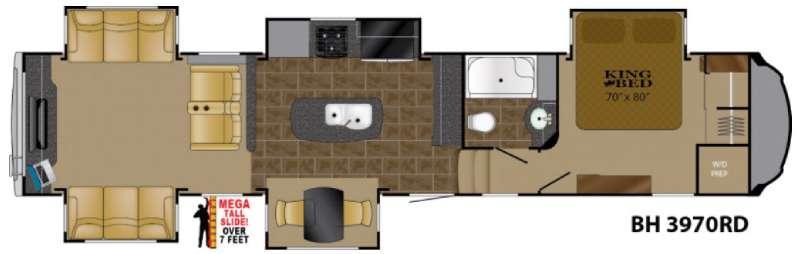 Floorplan - 2017 Heartland Bighorn 3970RD