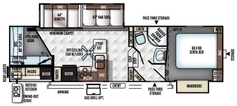 Flagstaff Classic Super Lite 8529BHDS Floorplan Image