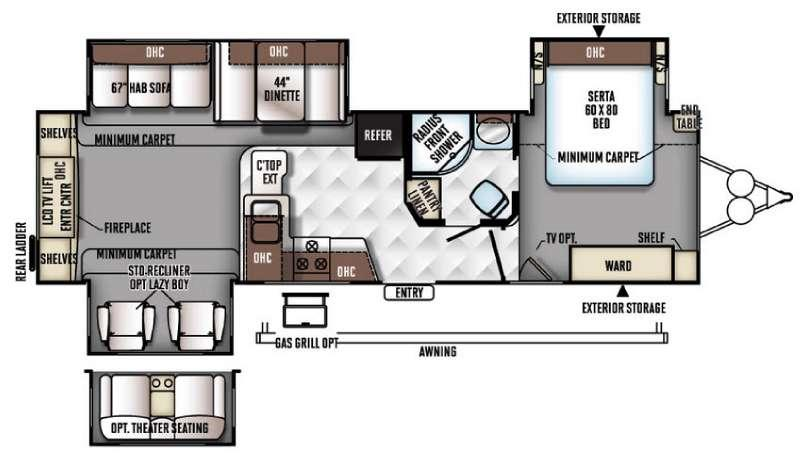 Flagstaff Classic Super Lite 831RESS Floorplan Image