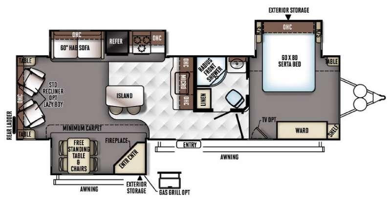 Flagstaff Classic Super Lite 832IKBS Floorplan Image