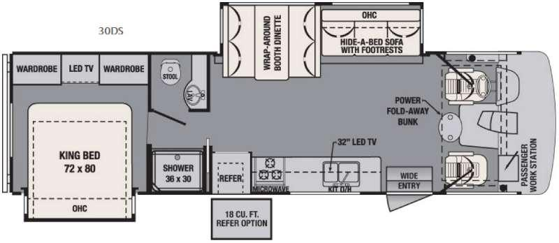 Floorplan - 2017 Forest River RV FR3 30DS