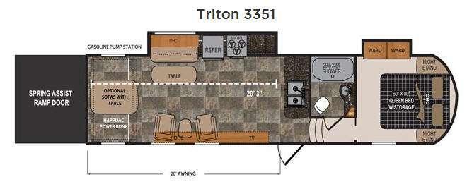 Floorplan - 2016 Dutchmen RV Triton 3351