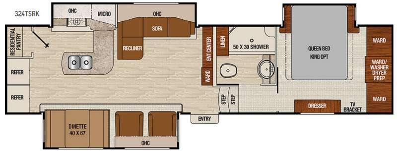 Floorplan - 2017 Coachmen RV Chaparral 324TSRK