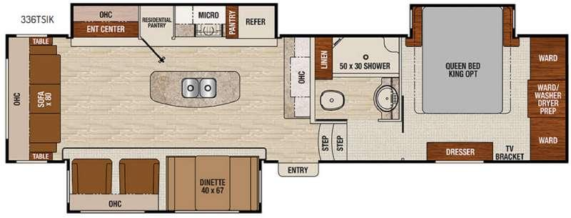 Floorplan - 2017 Coachmen RV Chaparral 336TSIK