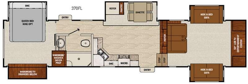 Chaparral 370FL Floorplan Image