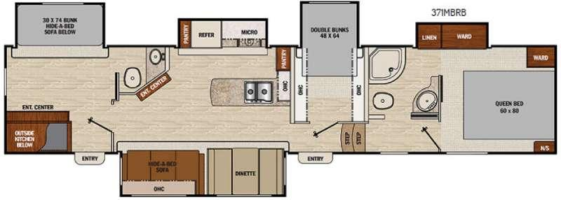 Floorplan - 2017 Coachmen RV Chaparral 371MBRB