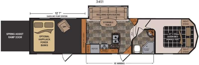 Floorplan - 2017 Dutchmen RV Triton 3451