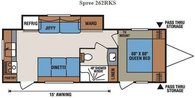Spree 262RKS Floorplan Image