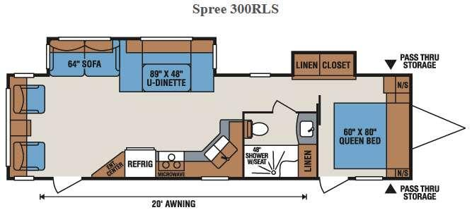 Spree 300RLS Floorplan Image