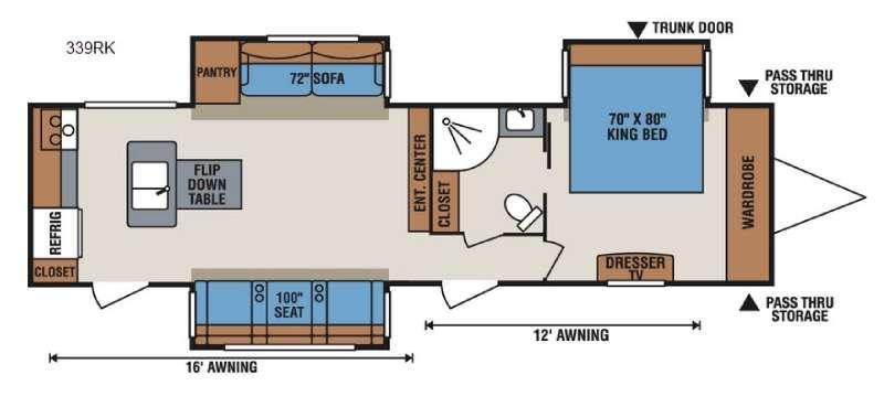 Spree 339RK Floorplan Image
