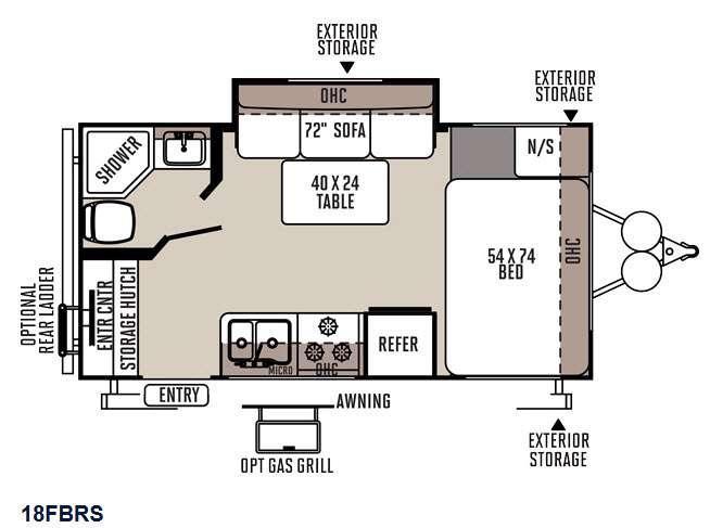 Flagstaff Micro Lite 18FBRS Floorplan Image