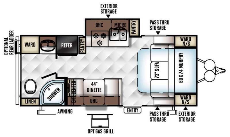Flagstaff Micro Lite 23FBKS Floorplan Image