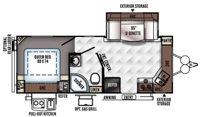 Flagstaff Micro Lite 25FKS Floorplan Image