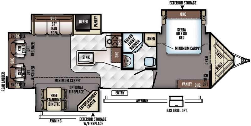 Flagstaff V-Lite 30WRLIKS Floorplan Image