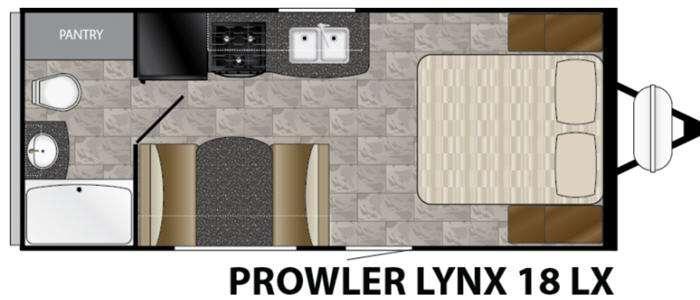 Floorplan - 2017 Heartland Prowler Lynx 18 LX