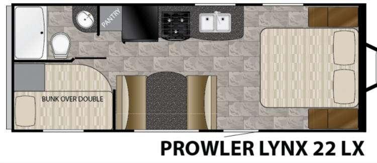 Floorplan - 2017 Heartland Prowler Lynx 22 LX