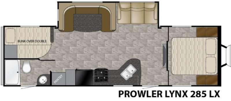 Prowler Lynx 285 LX Floorplan Image