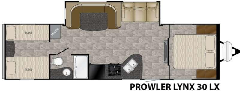 Prowler Lynx 30 LX Floorplan Image